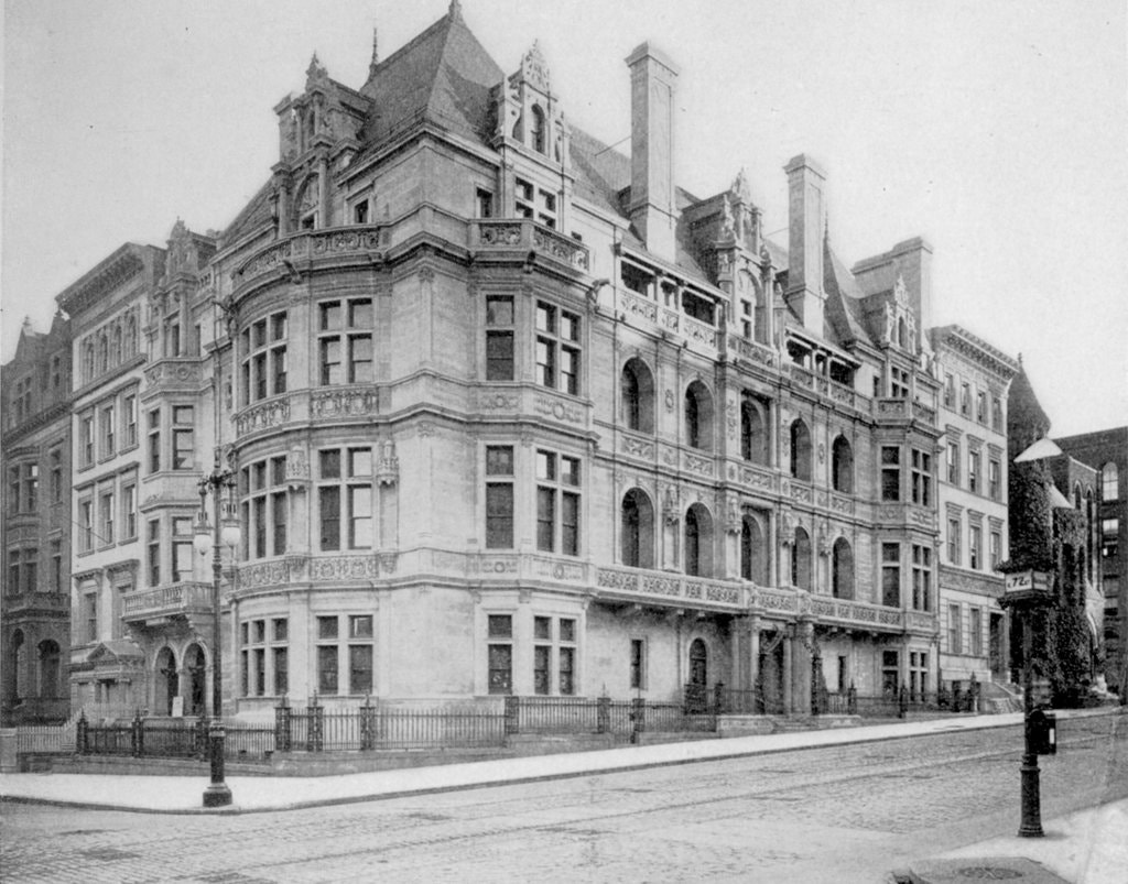 The Waldo mansion at roughly the time of its completion