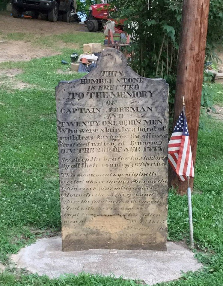 The marker for the Foreman Massacre.