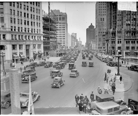 1929 Michigan Ave, six years after American Fore Building opened. Photographer: Chicago Daily News 