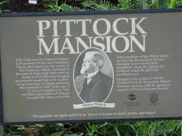 Pittock Mansion Historic Marker