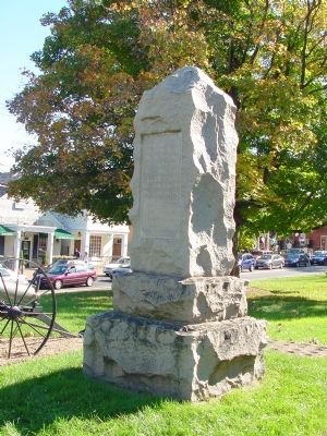 The Marr Monument was erected in front of the Courthouse in Fairfax in 1904 to commemorate Marr's sacrifice for the Confederate cause. On each side of the monument sits a howitzer facing North to emphasize his Southern allegiance.