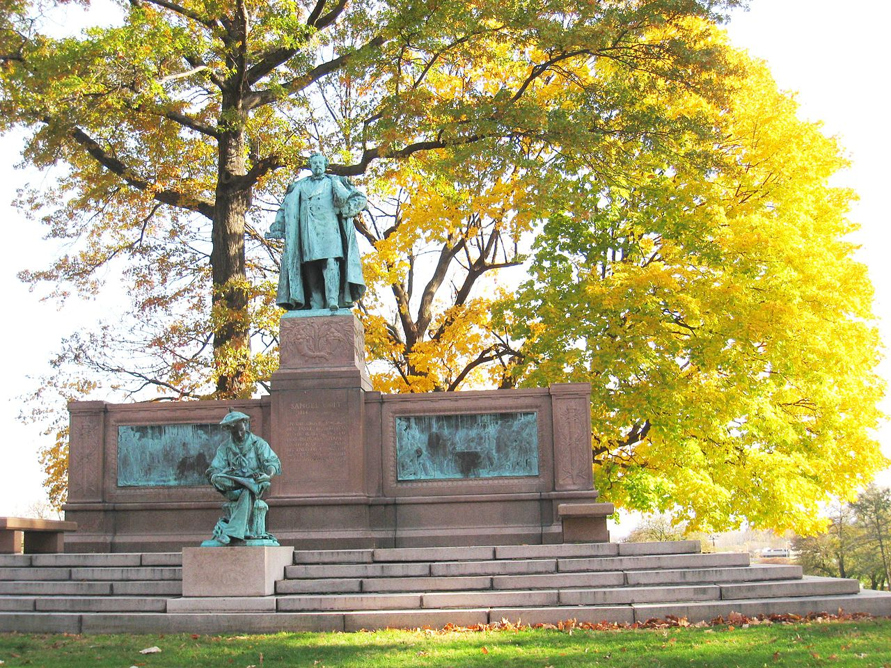 The Samuel Colt Memorial on the grounds of Colt Park in Hartford.