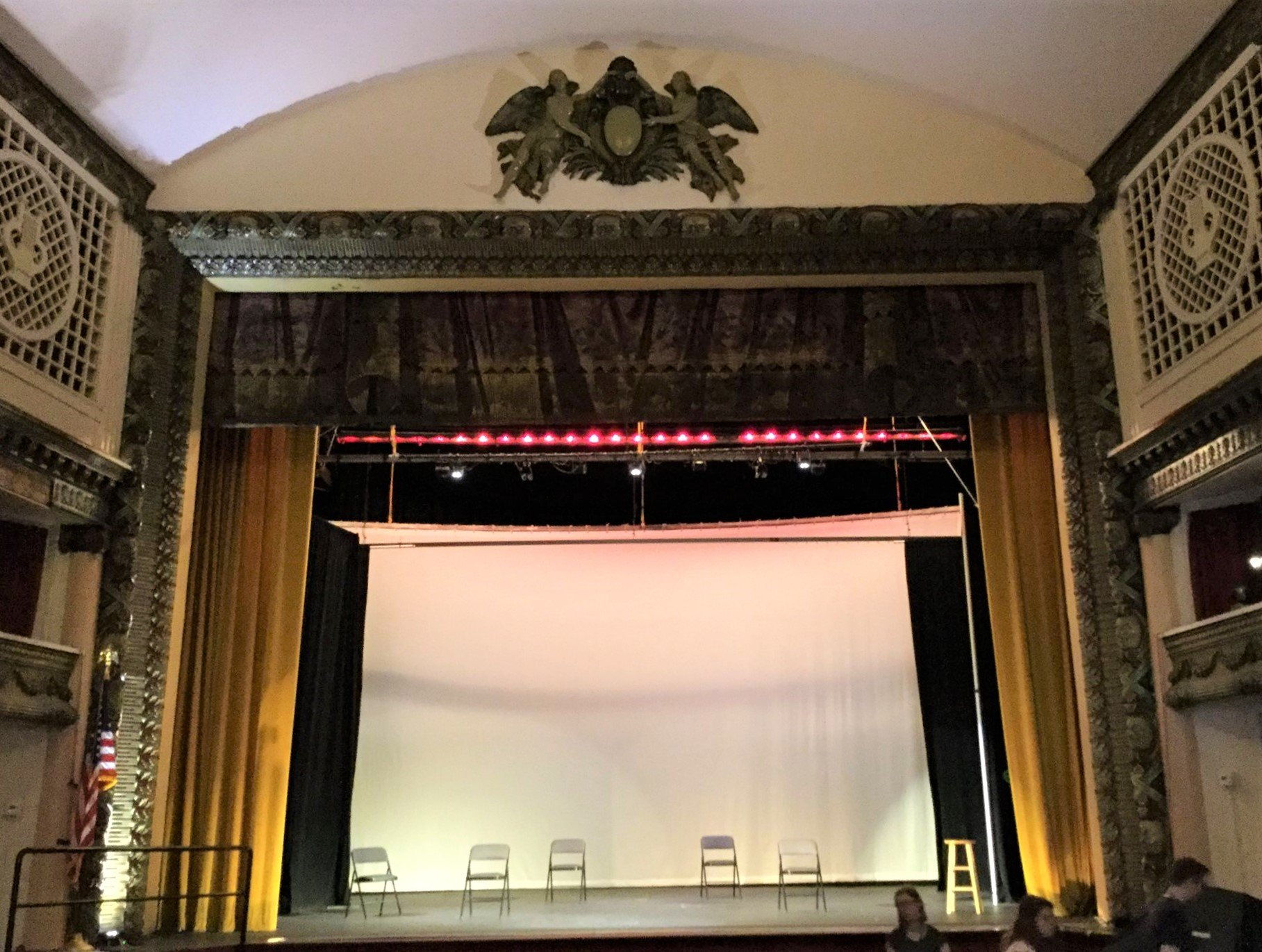 The stage of the Strand Theater.