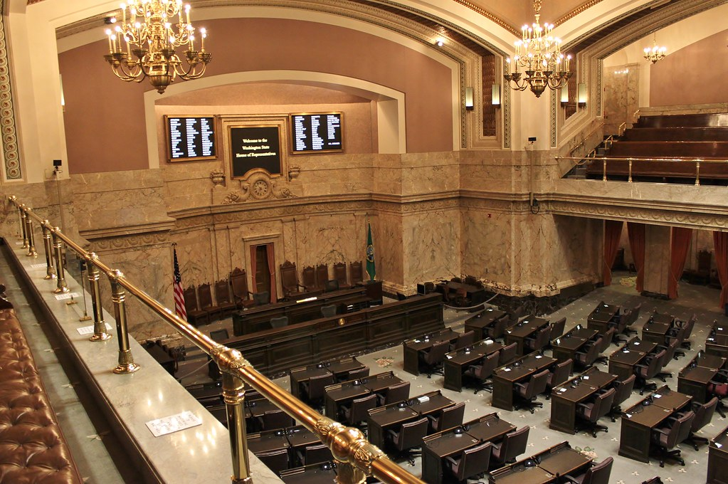 The Washington House of Representatives' Chamber inside the Capitol