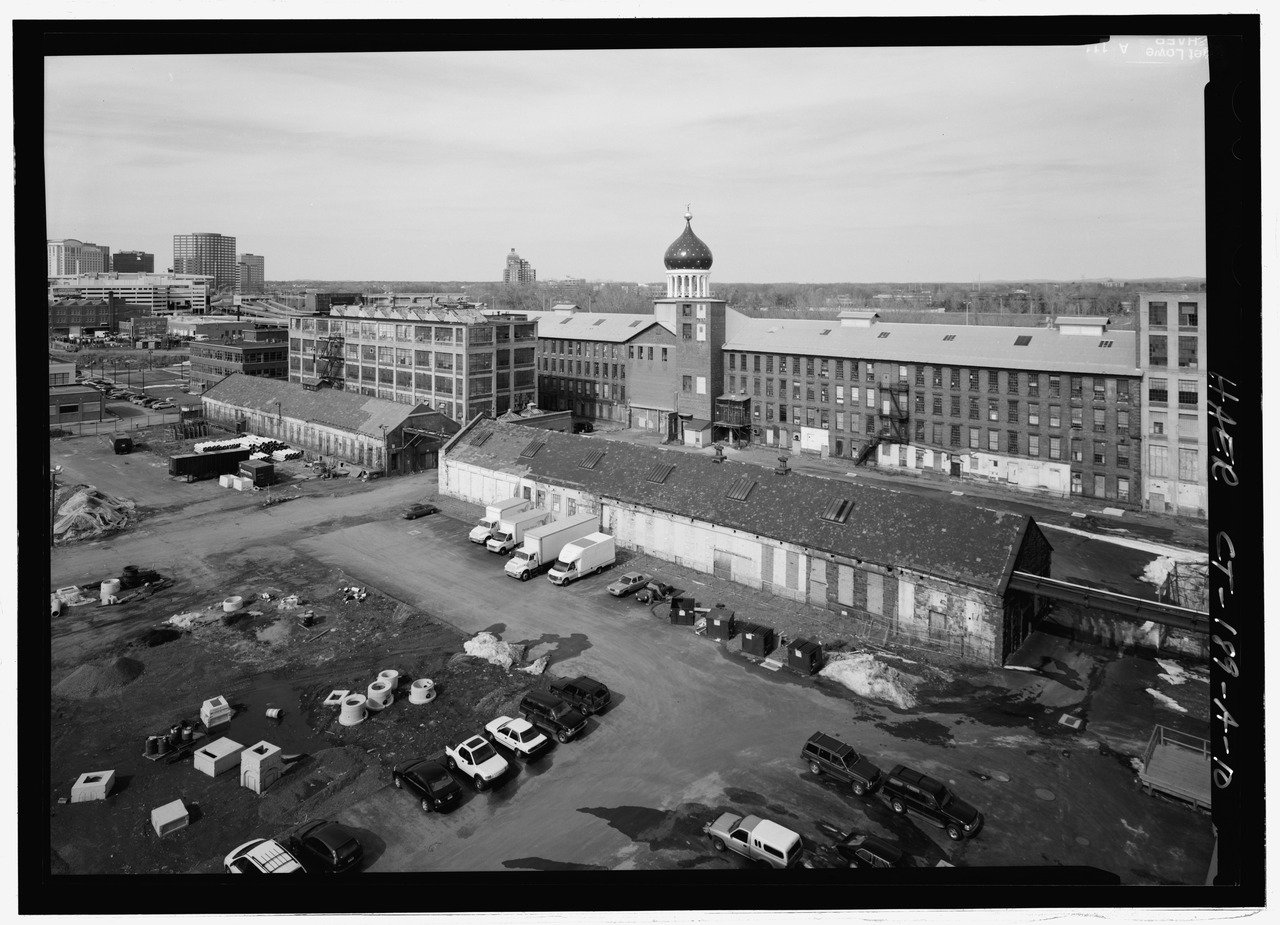 The East Armory, North Armory, Forge and Foundry buildings.