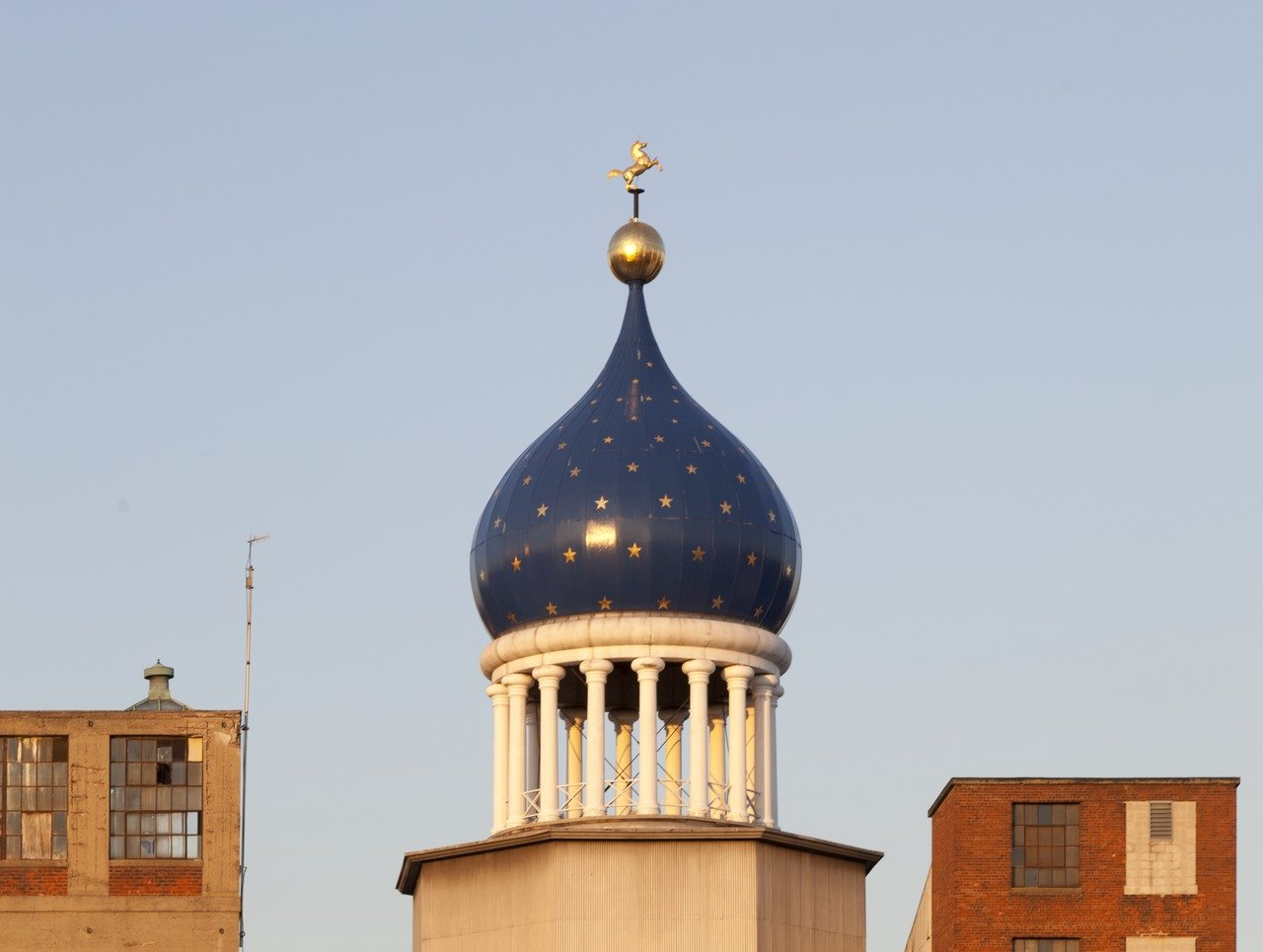 The famous dome circa 2011, complete with replica colt.