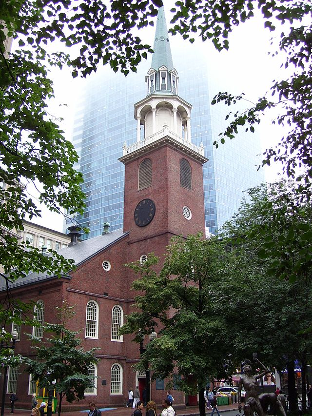 The Old South Meeting House was built in 1729 and is best-known for a meeting of colonists opposed to British taxation.