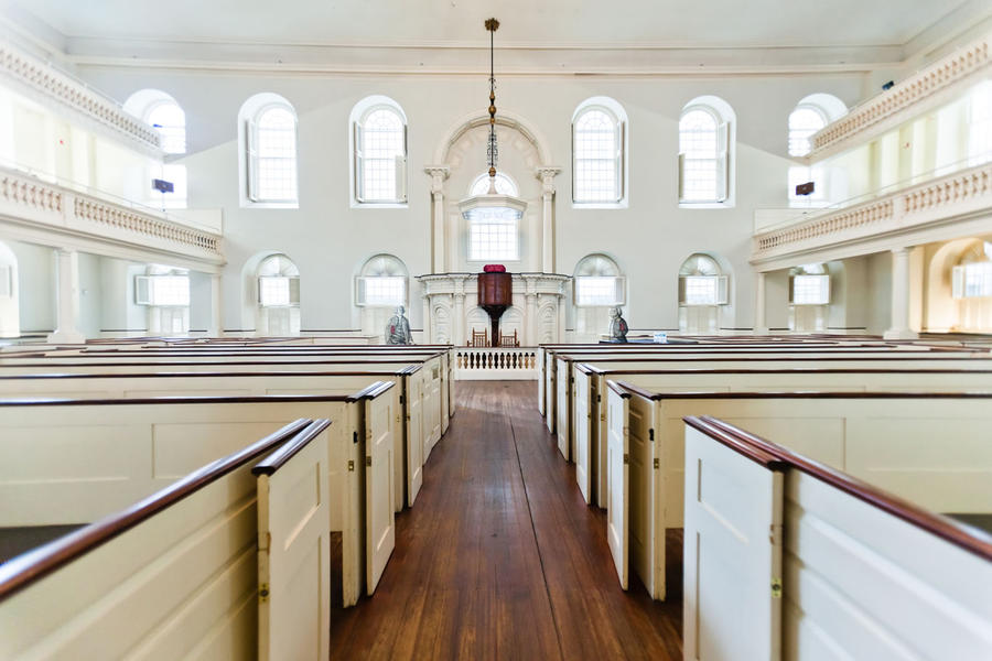 Interior of the Old South Meeting House