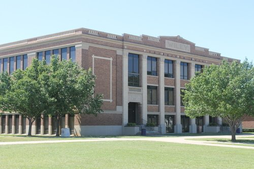 Thirkield Hall was constructed in 1919 and is the oldest building on the Wiley College campus.
