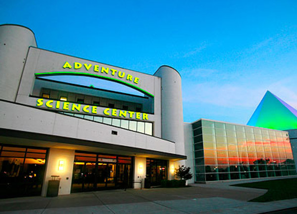 In 2008, the Space Chase exhibit gallery and the new Sudekum Planetarium opened to the public. Credit: Adventure Science Center