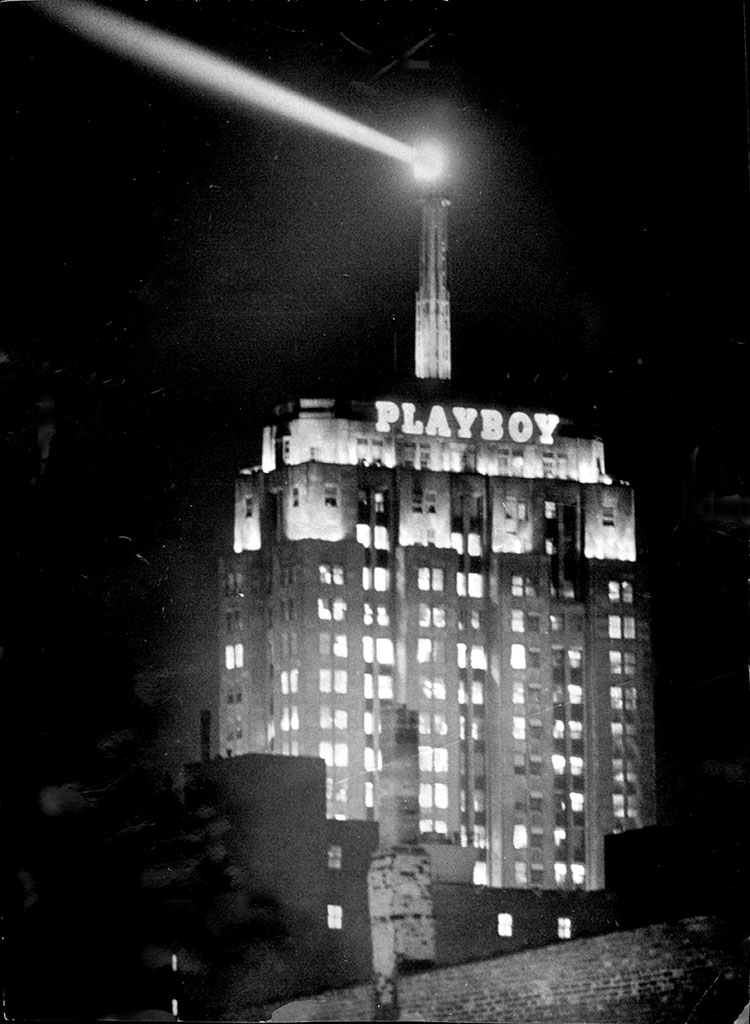 Playboy Building and the Lindbergh Beacon, 1969