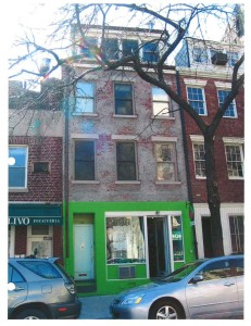The 190-year old building was demolished in 2012. Photo from Greenwich Village Society for Historic Preservation