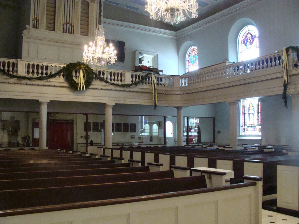 A view from the inside of the Church of St. Joseph.