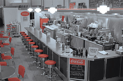 The Soda Fountain, Built to resemble the original Woolworth Luncheonette