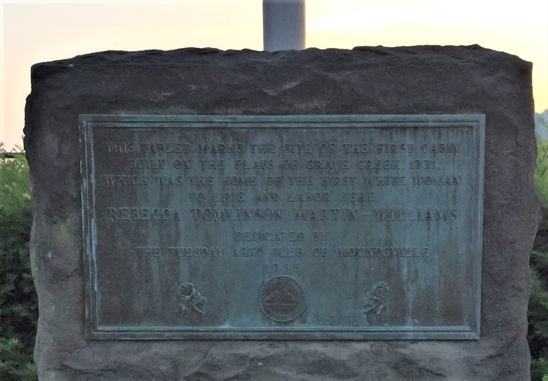 Monument for Tomlinson cabin site.