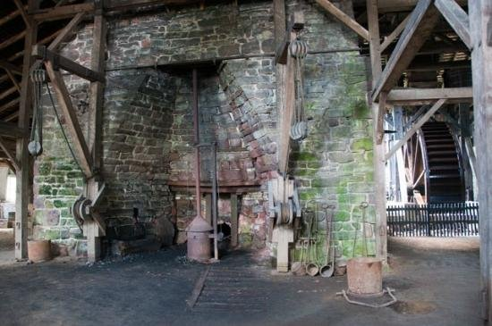 One of the original blast furnaces at Hopewell.