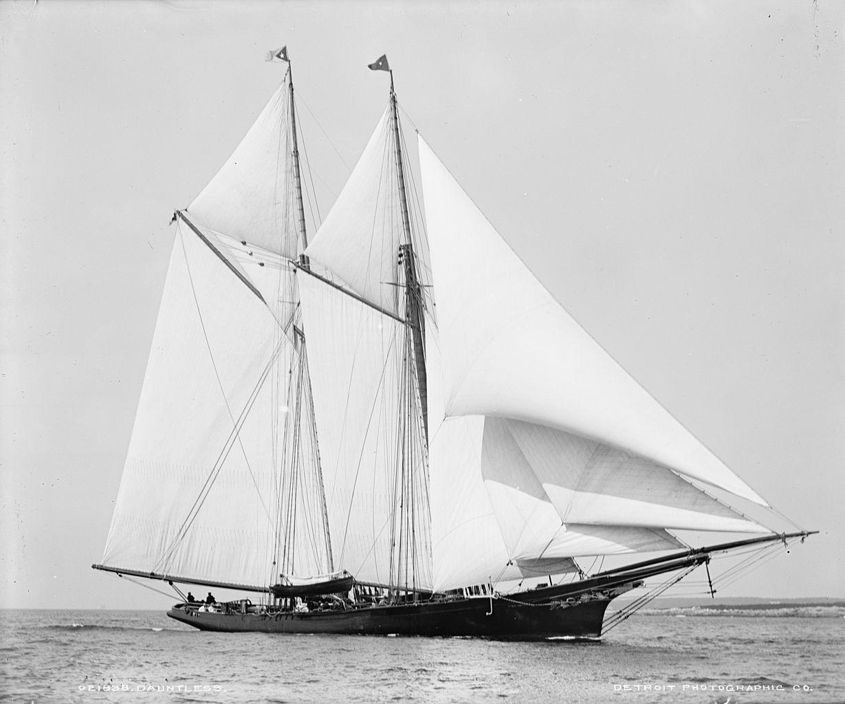 Caldwell's schooner, the Dauntless.