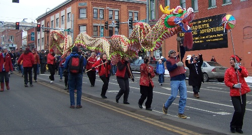 Each year, the Mai Wah Society sponsors a Chinese Lunar New Year's parade.