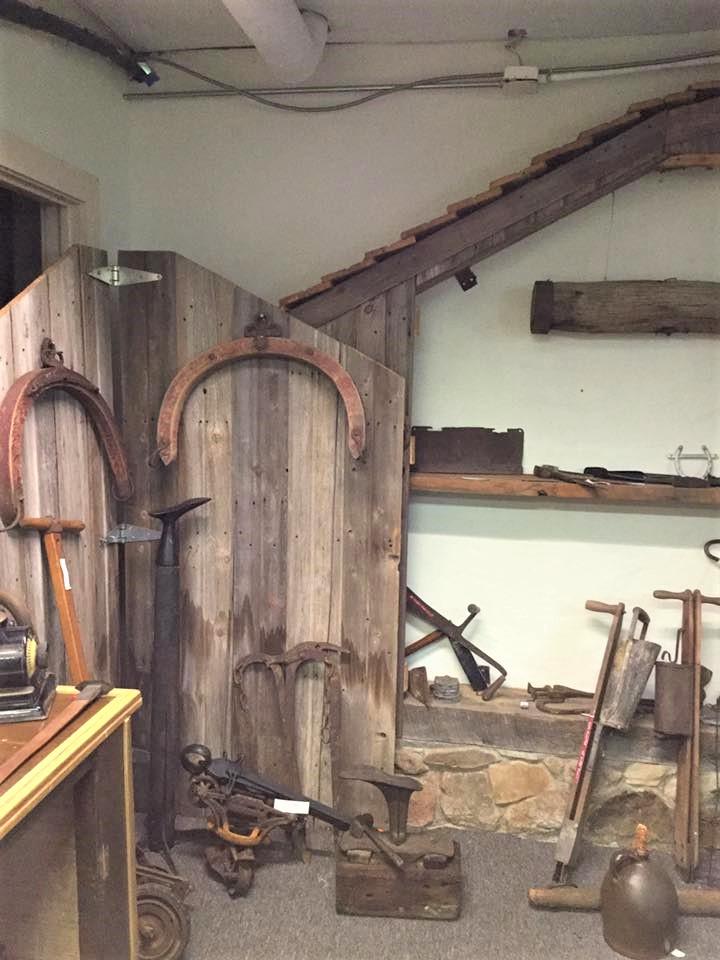 Antique agricultural tools