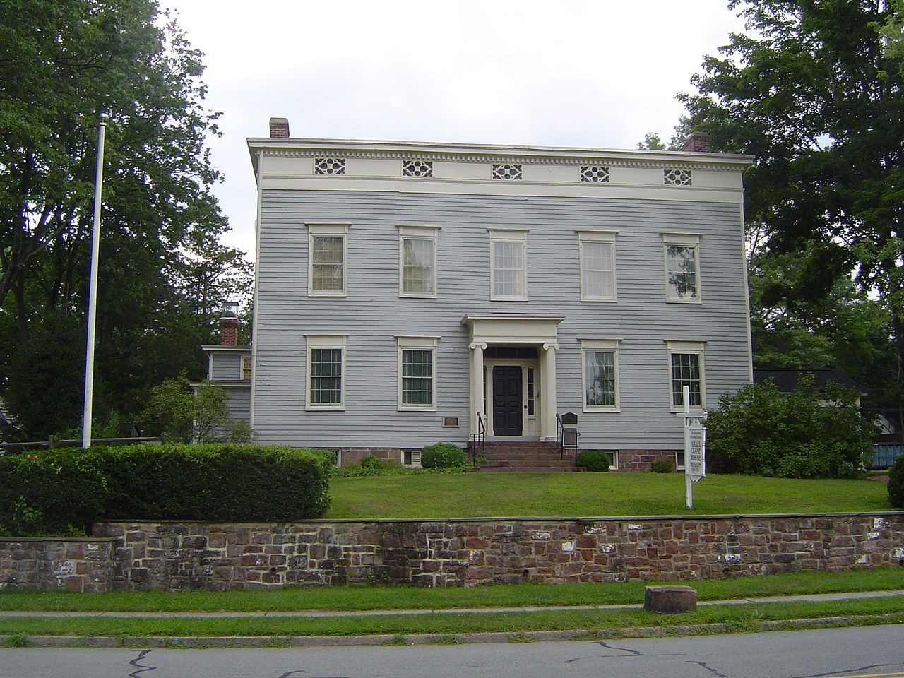 The Israel Crane House was built in 1796 by its namesake. It later became the home of the YMCA for African American women and children from 1920-1965. Today, it is a museum operated by the Montclair Historical Society.