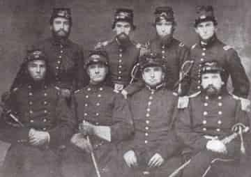 Maj. Samual, Hays in the far bottom right. 16th Illinois Infantry mustered in on May 24, 1861.