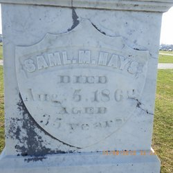 Grave of Major Samuel Hays in Pittsfield West Cemetery.