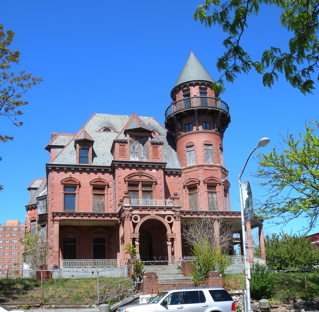 Built in 1888, Krueger Mansion is the most ornate building in the city. Photo: Wikimedia Commons