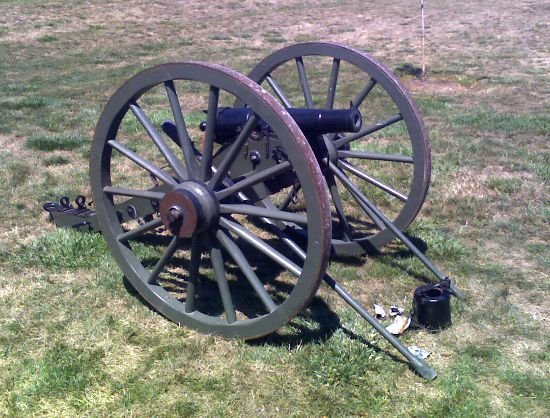 "Recreation of the Woodruff Gun ""2 Pounder"" used during the raids."