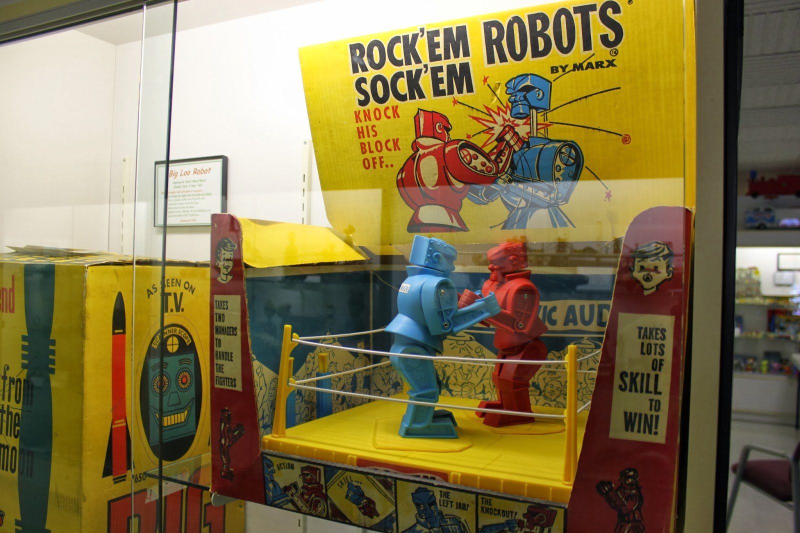 The Rock'em Sock'em Robots game by Marx.