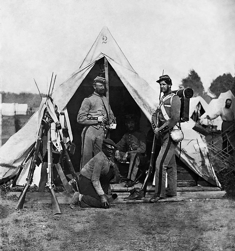 The 7th Infantry in New York during the Civil War.
