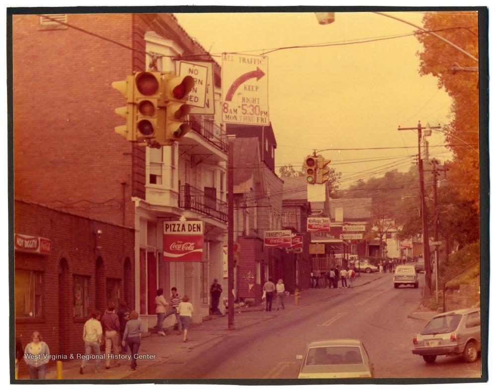 View up University Avenue, 1981