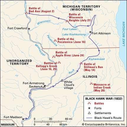 A Map of the Black Hawk Battlefields