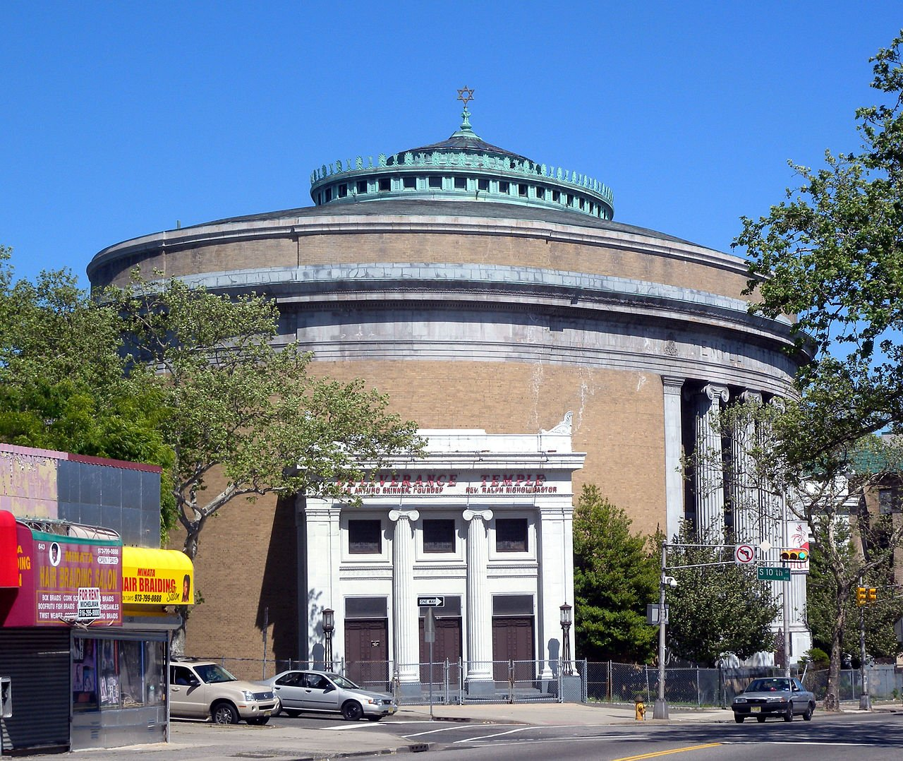 Temple B'Nai Abraham is the largest synagogue in the state. Built in 1924, it is now the home of Deliverance Evangelistic Center.
