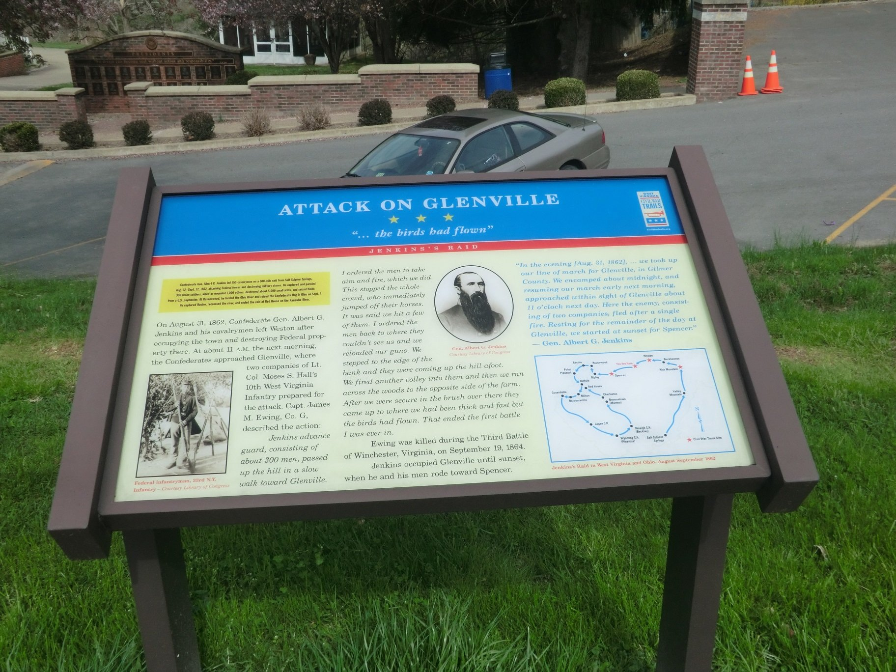 Attack on Glenville Marker.