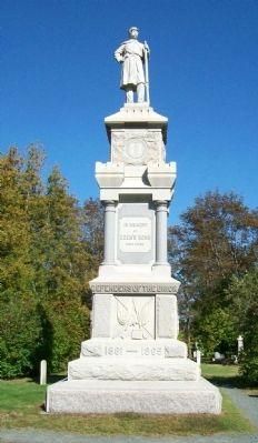 The Eden's Sons Statue of the Civil War Memorial.