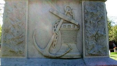 North face of the memorial representing the Sailors emblem.