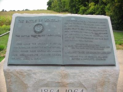 A close up view of the Marker, it was erected in 1964