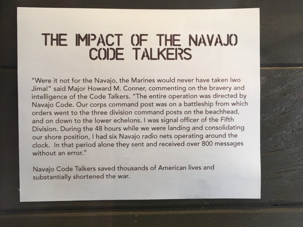"""Navajo code talkers saved thousands of American lives and substantially shortened the war."""