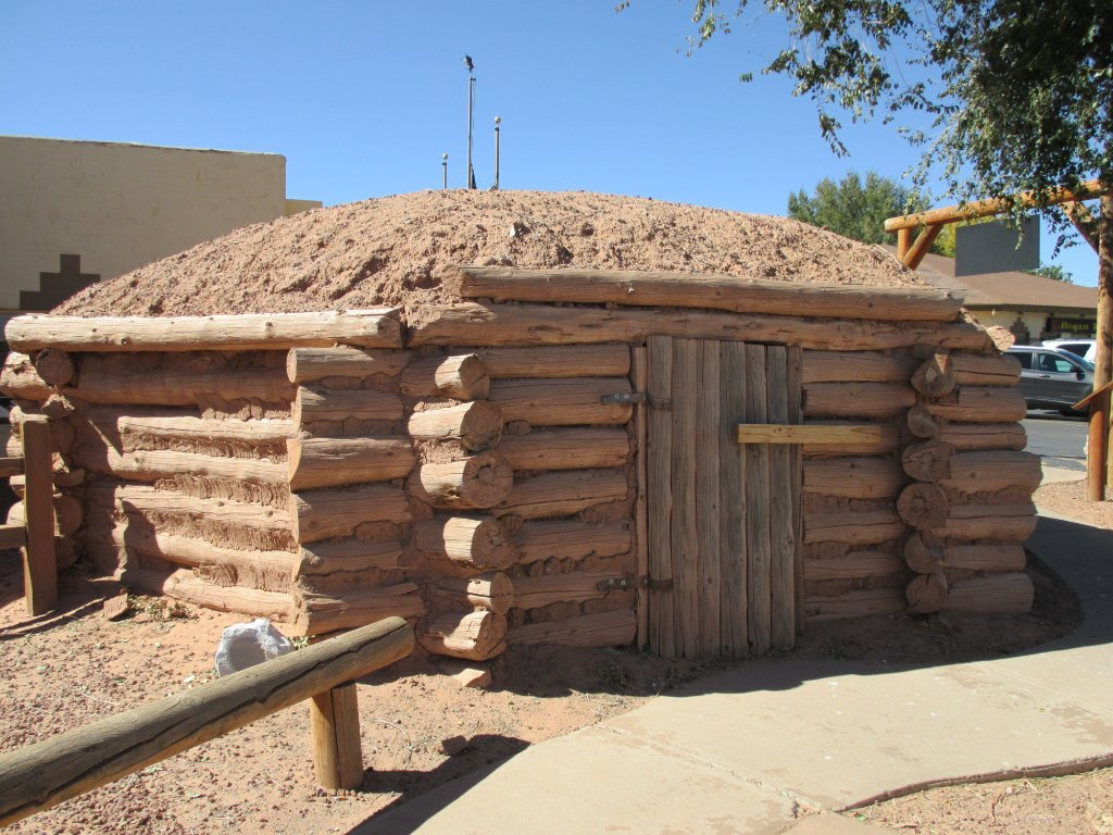 A hogan is a traditional Navajo home
