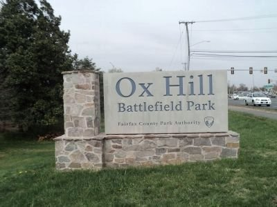 The main sign for the battlefield which contains a lot of markers and information about the battle. The marker for the Maryland Campaign can be found in the battlefield by the North entrance.