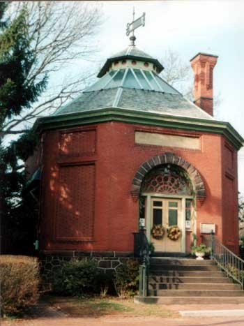 Built in 1892, the Old Library Museum is used for the Society's exhibits.