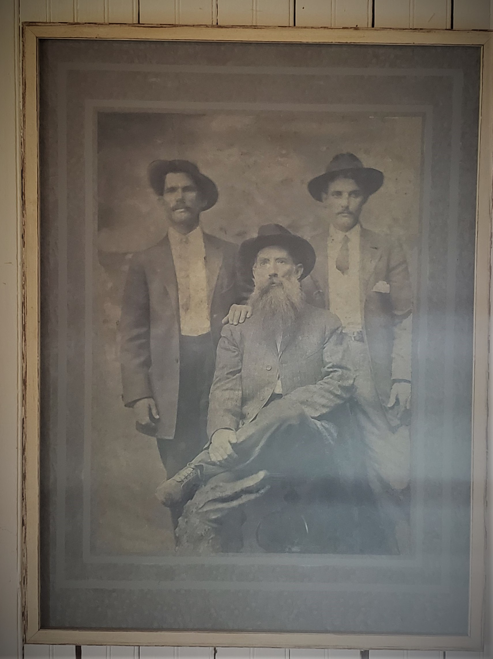 Thomas Oesterreicher and sons Jacob (l) and Clarence (r)