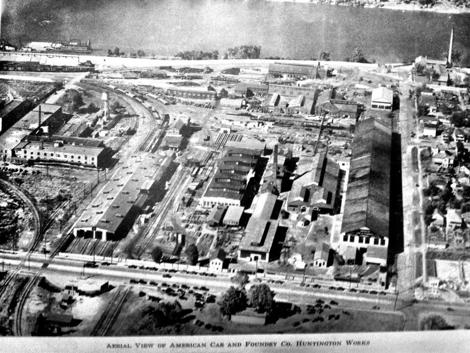 Aerial view of the ACF plant