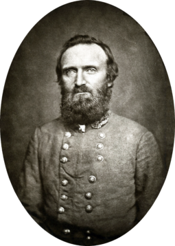 "A portrait of General Thomas ""Stonewall"" Jackson who was critical in the Confederate victory at Manassas."