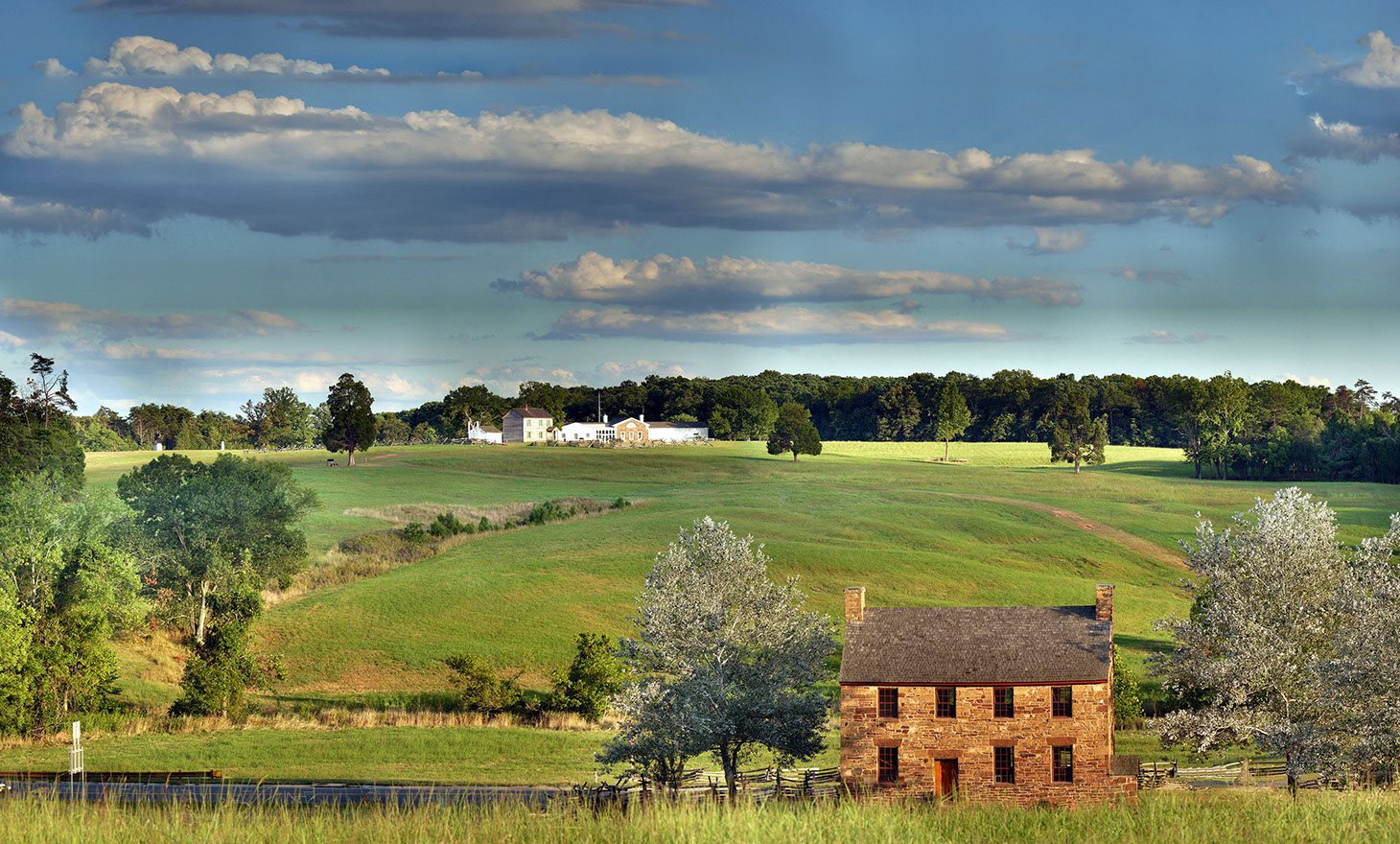 A picture of the Manassas Battlefield where the Union and the Confederacy met in the first major battle of the Civil War.