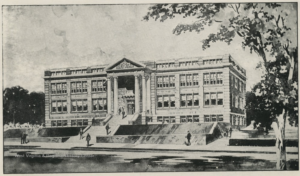 Prospective drawing of Colson Hall in 1920.