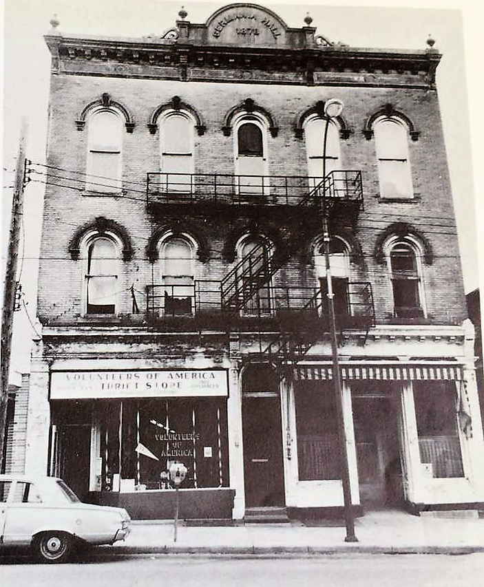Historic Germania Hall. Photo by Dan Katsin, date unknown.