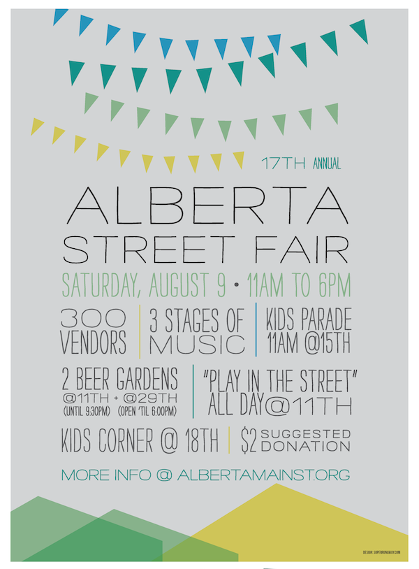Alberta Street Fair Flyer