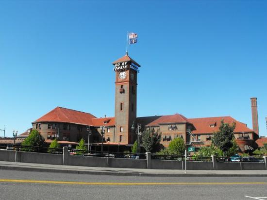 Union Station was built in 1894 and is still a passenger train station today.