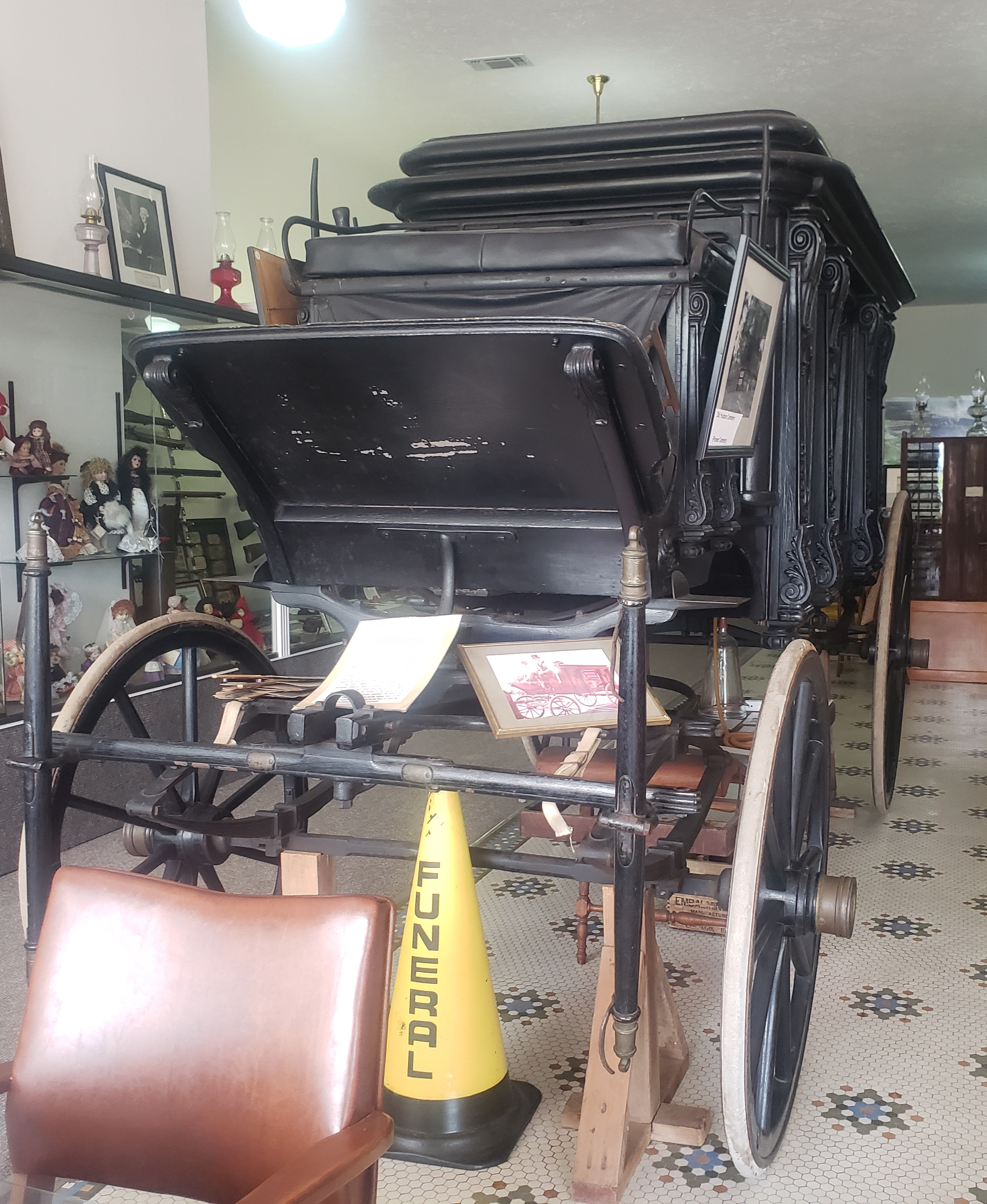 Front View of Horse Drawn Hearse